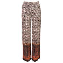 Buy Urban Touch Wide Leg Printed Trousers, Brown Online at johnlewis.com