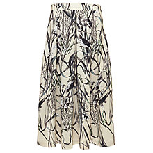 Buy Urban Touch Bird Print Midi Skirt, Cream Online at johnlewis.com