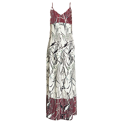 Urban Touch Bird Print Cami Maxi Dress, Cream