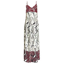 Buy Urban Touch Bird Print Cami Maxi Dress, Cream Online at johnlewis.com