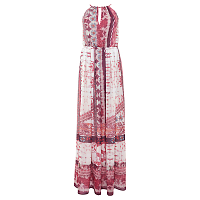 Urban Touch Ethnic Print Maxi Dress, Cream
