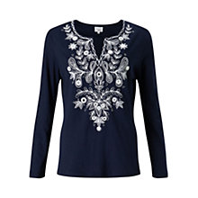 Buy East Embellished Jersey T-Shirt, Ink Online at johnlewis.com