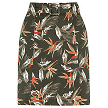 Buy Oasis Palm Belted A-Line Skirt, Khaki Online at johnlewis.com