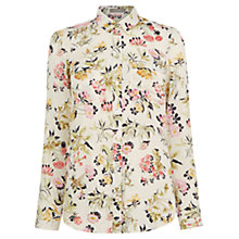 Buy Oasis Sofia Print Shirt, Multi/Natural Online at johnlewis.com