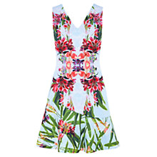 Buy Karen Millen Tropical Floral Scuba Dress, Multi Online at johnlewis.com