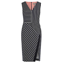 Buy Oasis Stripe Wrap Pencil Dress, Multi Online at johnlewis.com