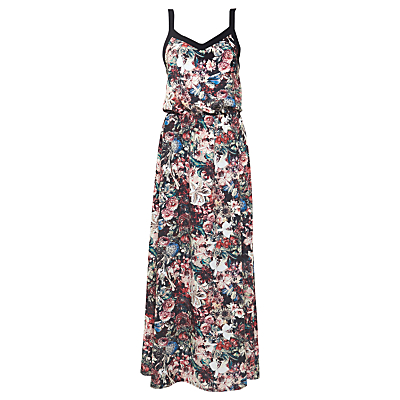 Urban Touch Floral Print Cami Maxi Dress, Black