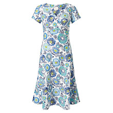 Buy East Kerela Floral Dress, Blue Online at johnlewis.com