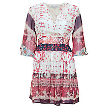 Buy Urban Touch Ethnic Print Crossover Dress, Cream Online at johnlewis.com