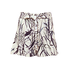 Buy Urban Touch Bird Print Pleated Shorts, Cream Online at johnlewis.com