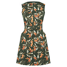 Buy Oasis Palm Safari Dress, Khaki Online at johnlewis.com