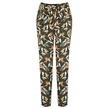Buy Oasis Palm Printed Belt Peg Trousers, Multi Online at johnlewis.com