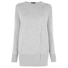 Buy Warehouse Asymmetric Popper Cardigan, Grey Online at johnlewis.com