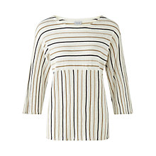 Buy Jigsaw Linen Cotton Stripe Jumper, Multi Online at johnlewis.com