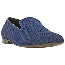 Buy Dune Royal Slipper Cut Fabric Slip-On Loafers, Navy Online at johnlewis.com