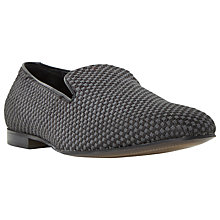 Buy Dune Royal Slipper Cut Fabric Slip-On Loafers, Grey Online at johnlewis.com