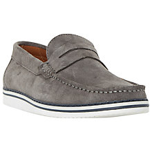 Buy Dune Brightling Wedge Sole Suede Loafers Online at johnlewis.com