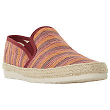 Buy Dune Funfair Canvas Espadrilles, Burgundy Online at johnlewis.com