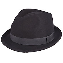 Buy John Lewis Wool Trilby Hat, Black Online at johnlewis.com