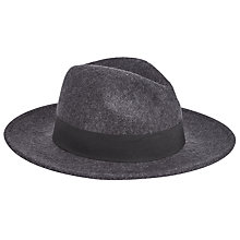 Buy JOHN LEWIS & Co. Wool Fedora Hat, Grey Online at johnlewis.com