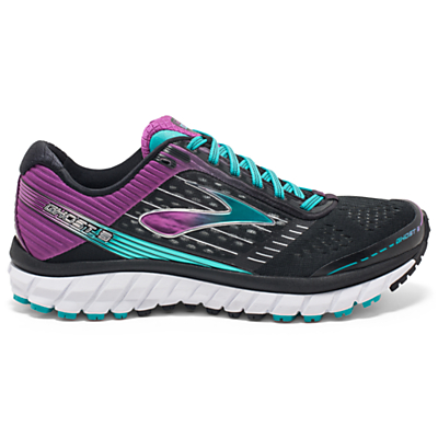 Brooks Ghost 9 Women's Running Shoes, Black/Purple