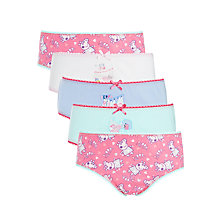 Buy John Lewis Girls' Peppa Pig Briefs, Pack of 5, Pink/Blue Online at johnlewis.com