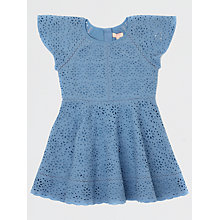 Buy Jigsaw Girls' Broderie Anglaise Dress, Blue Online at johnlewis.com