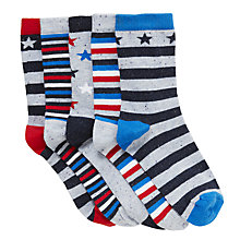 Buy John Lewis Nautical Stars Socks, Pack of 5, Multi Online at johnlewis.com
