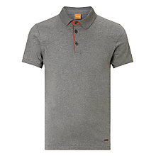 Buy BOSS Orange Parcity Short Sleeve Polo Shirt, Light Pastel Grey Online at johnlewis.com