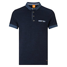 Buy BOSS Orange Patches Polo Shirt, Blue Online at johnlewis.com