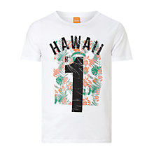 Buy BOSS Orange Tomsin Print T-Shirt Online at johnlewis.com