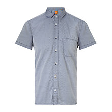 Buy BOSS Orange EzippoE Regular Fit 1 Shirt, Dark Blue Online at johnlewis.com