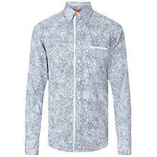 Buy BOSS Orange Cieloebue Shirt, Dark Blue Online at johnlewis.com