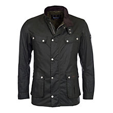 Buy Barbour International Duke Waxed Jacket, Sage Online at johnlewis.com