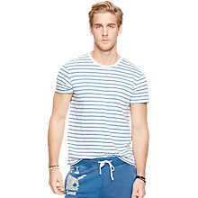 Buy Denim & Supply Ralph Lauren Striped Short Sleeve Crew Neck T-Shirt, Hampton Blue Online at johnlewis.com