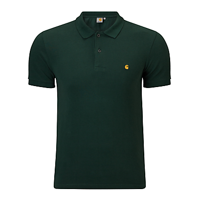 Image of Carhartt WIP Slim Fit Polo Shirt, Conifer/Gold