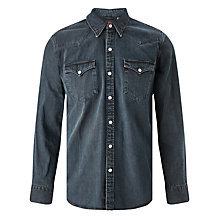 Buy Levi's Barstow Western Chambray Shirt, Smokey Dark Online at johnlewis.com