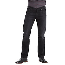 Buy Levi's 504 Straight Fit Jeans, Nano Black Online at johnlewis.com
