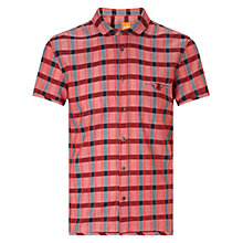 Buy BOSS Orange EshuhiE Short Sleeve Shirt, Medium Red Online at johnlewis.com