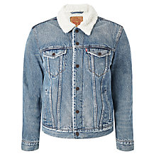 Buy Levi's Sherpa Trucker Denim Jacket, Buckman Online at johnlewis.com