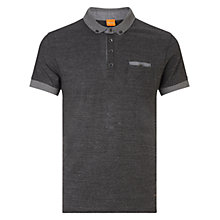 Buy BOSS Orange Patches Polo Shirt, Black Online at johnlewis.com