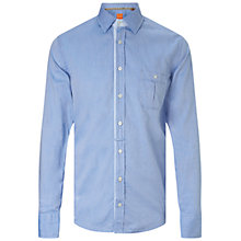 Buy BOSS Orange Eslime Long Sleeve Shirt, Open Blue Online at johnlewis.com