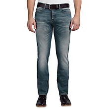 Buy BOSS Orange Tapered Orange90 Jeans, Turquoise/Aqua Online at johnlewis.com