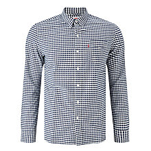 Buy Levi's Sunset 1 Pocket Gingham Long Sleeve Shirt, Dress Blue Online at johnlewis.com