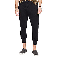Buy Denim & Supply Ralph Lauren Cuffed Jogging Bottoms, Polo Black Online at johnlewis.com