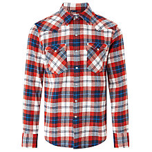 Buy Levi's Barstow Western Shirt, Dress Blue Online at johnlewis.com
