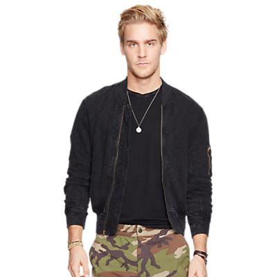 Image of Denim & Supply Ralph Lauren Cotton Bomber Jacket, Polo Black