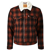 Buy Levi's Sherpa Check Jacket, Burnt Henna Online at johnlewis.com