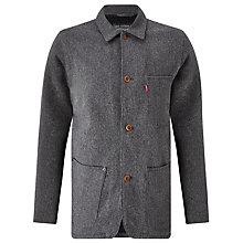 Buy Levi's Engineer Coat, Black Heather Online at johnlewis.com