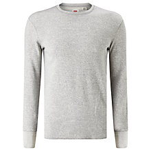 Buy Levi's Capp Crew Neck Sweatshirt, Pattern Owl Grey Heather/ Natural Greige Online at johnlewis.com